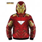 SZ Medium  Teen Iron Man Classic Mask Fleece Hoodie Costume - SWWHC-MEEE1966MZ