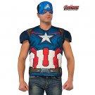 SZ Standard Avengers 2 Captain America Top Men's Costume - SWWHC-R810289