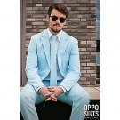SZ 44 OppoSuits Cool Blue Suit for Men - SWWHC-OPOSUI-0030