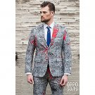 SZ 40 OppoSuits Halloween Hand Print Suit for Men- SWWHC-OPOSUI-0037