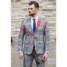 SZ 46 OppoSuits Halloween Hand Print Suit for Men- SWWHC-OPOSUI-0037