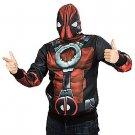 SZ XL Teen Deadpool Fleece Mask Hoodie Costume- SWWHC-MEE1967MZ