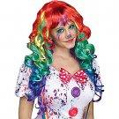 Rainbow Clown Wig with Bangs for Women Item - SWWHC-92397FW