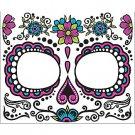 Dia de Muertos Skull Women's Face Tattoo - SWWHC-74679F