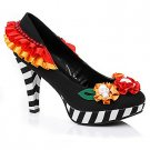 SZ 8 Adult Day of the Dead Heels - SWWHC-E414DIA