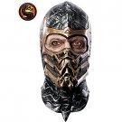 Men's Scorpion Latex Mask from Mortal Kombat - SWWHC-68463R