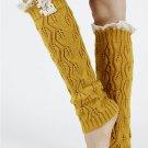 LACE TOP KNEE HIGH  LEG WARMER - SWRUB-KYL8051YEW