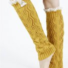 LACE TOP KNITTED  LEG WARMER - SWRUB-KYL8052YEW