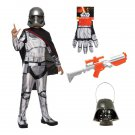 SZ Large - Complete Captain Phasma Kids Costume - SWOFSTW-GR99620086