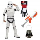 SZ Small - Complete Deluxe First Order Stormtrooper Kids Costume - SWOFSTW-GR99620299