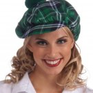 Green Gatsby Hat with Pom Pom - SWWHC-F68653