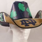 Notre Dame Fighting Irish Cowboy Hat Made Of Officially Licensed Materials   SW-ETSBBH