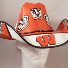 University of Wisconsin Badgers  Cowboy Hat Made Of Officially Licensed Materials   SW-ETSBBH
