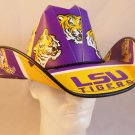 LSU Tigers  Cowboy Hat Made Of Officially Licensed Materials   SW-ETSBBH