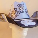 North Carolina Tar Heels Cowboy Hat Made Of Officially Licensed Materials   SW-ETSBBH