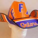 Florida Gators Tar Heels Cowboy Hat Made Of Officially Licensed Materials   SW-ETSBBH