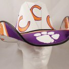 Clemson Tigers Cowboy Hat Made Of Officially Licensed Materials   SW-ETSBBH