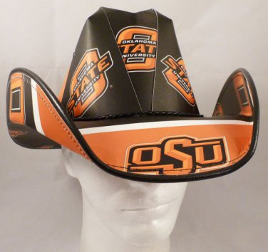 Oklahoma State University Cowboys  Cowboy Hat Made Of Officially Licensed Materials   SW-ETSBBH