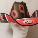 Ohio State Buckeyes University Cowboys  Cowboy Hat Made Of Officially Licensed Materials   SW-ETSBBH