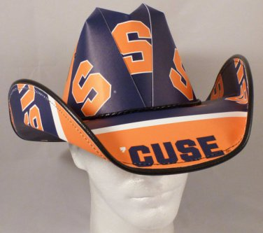Syracuse Orange Gamecocks Cowboy Hat Made Of Officially Licensed Materials   SW-ETSBBH