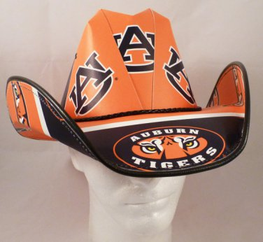 Auburn University Tigers Cowboy Hat Made Of Officially Licensed Materials   SW-ETSBBH
