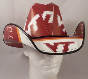 Virginia Tech Hokies Cowboy Hat Made Of Officially Licensed Materials   SW-ETSBBH