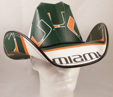 Miami Hurricanes Cowboy Hat Made Of Officially Licensed Materials   SW-ETSBBH