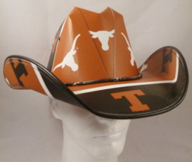 Texas Longhorns Cowboy Hat Made Of Officially Licensed Materials   SW-ETSBBH