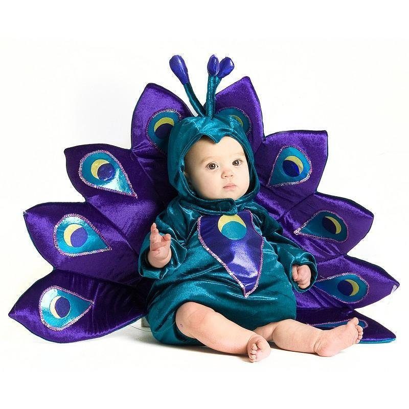 6-12 Mos - Baby Peacock Infant Toddler Halloween Costume- SWEB-INFPEACOCK