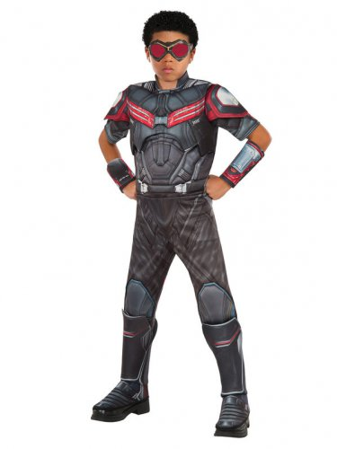 SZ L MARVEL CAPTAIN AMERICA CIVIL WAR DELUXE MUSCLE CHEST FALCON BOY'S COSTUME - SWWHC-R620599