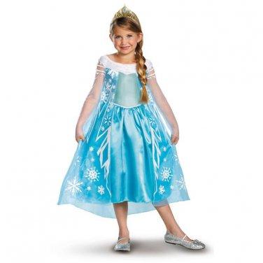 SZ 7-8 FROZEN ELSA DELUXE CHILD COSTUME SWWHC-DI56998