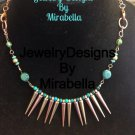 Metal & Jade Necklace