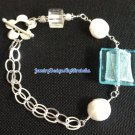 Sterling Silver and Blue Glass