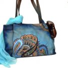 Handpainted Leather Bag