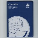 Uni-Safe Canada 25 Cents Quarter Coin Album Folder 1937-1999