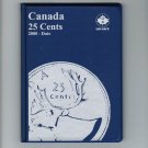 Uni-Safe Canada 25 Cents Quarter Coin Album Folder 2000-Date