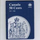 Uni-Safe Canada 50 Cents Coin Album Folder 1937-1983