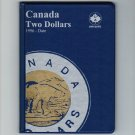 Uni-Safe Canada 2 Dollar Toonie Coin Album Folder 1996-Date