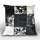 New design Cowhide  pillows,leather cushions,patchwork pillows free shipping.