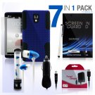 Hybrid Hard and Soft Mesh Protective Grey Case for LG Optimus L9 7 Piece Bundle