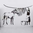 Banksy Zebra Stripes Wash Graffiti Wall Decal Sticker Vinyl - Banksy Zebra Stripes Wash