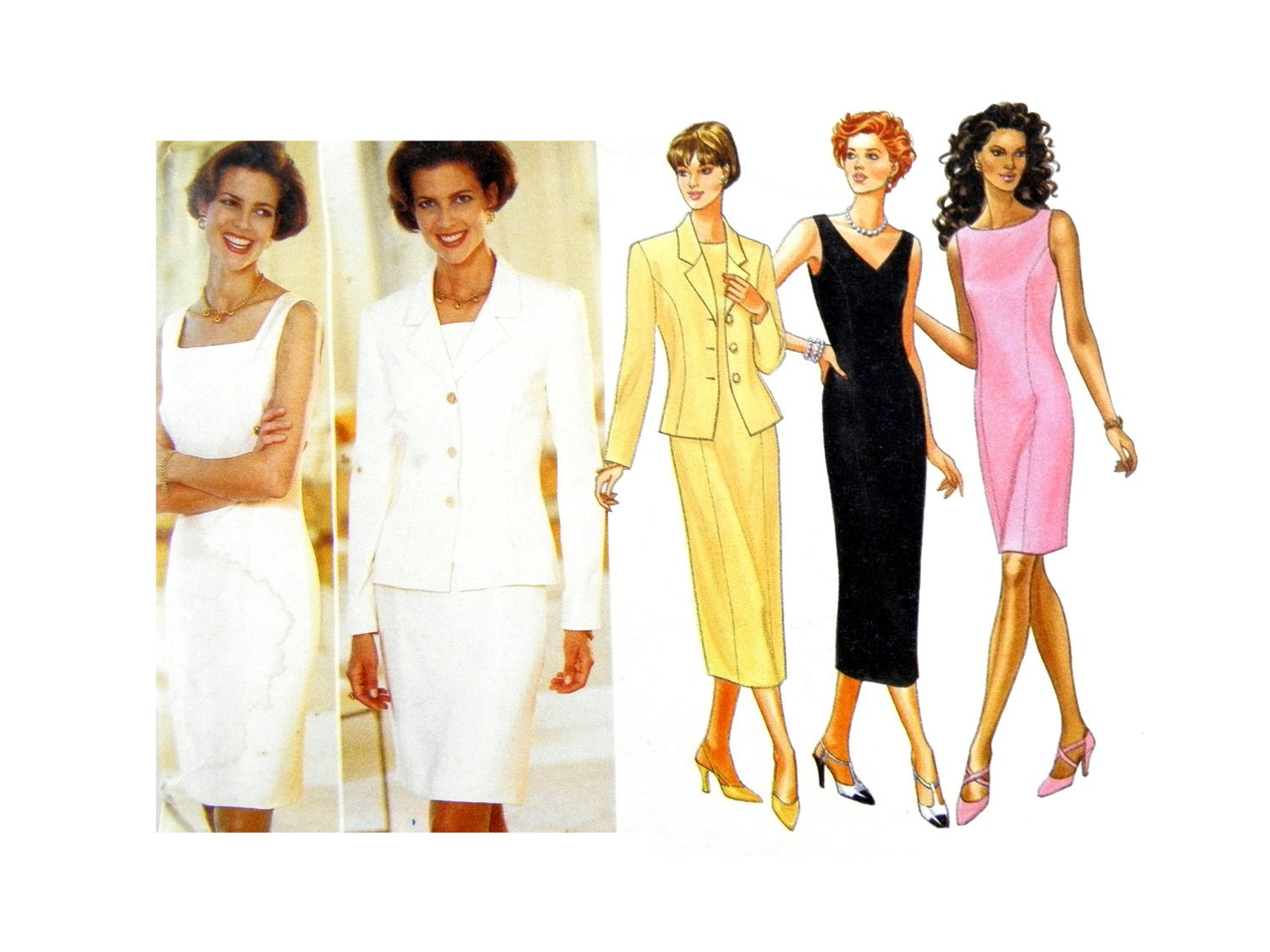 Butterick 4441 Misses' Semi-Fitted, Lined Jacket, Tapered Dress SIZE 18-22