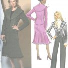 Autumn Lined jacket skirt pants Modern day wear sewing pattern Butterick 4869