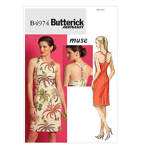 Butterick B4974 Sewing Pattern by Muse for Misses' Dress - Uncut - Size 14, 16, 18, 20