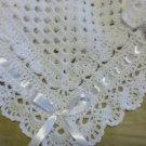 Crochet White Christening, Baptism Baby Blanket, Afghan,Crochet Lace