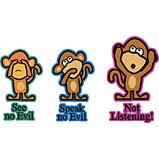 monkey not listening tshirt