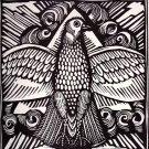 Raul Dufy - la-colombe - Le Bestiaire Woodcut