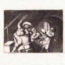 A. Van Ostade - Peasants Quarrel - Etching