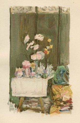 Child Hassam - A Favorite Corner - 1894 Chromolithograph