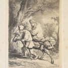 Durand after Rembrandt - Flight into Egypt - Etching